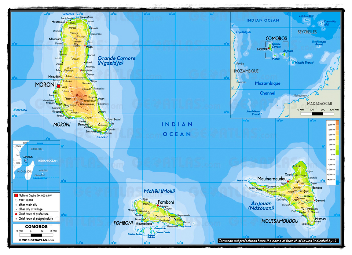 map of the comoros islands courtest of paradiseintheworldcom