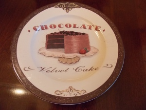 The perfect plate on which to serve this chocolate indulgence