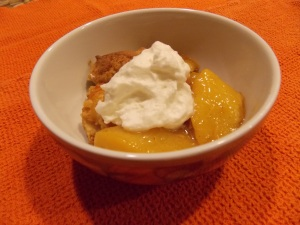 Make sure you eat it warm with a generous dollop of fresh whipped cream - or ice cream!